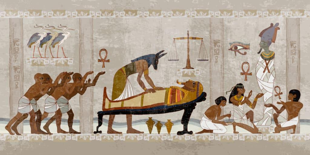 Alte Ägypter bei Mumifizierung